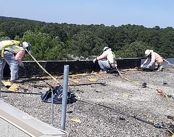 Rooftop abatement remediation project
