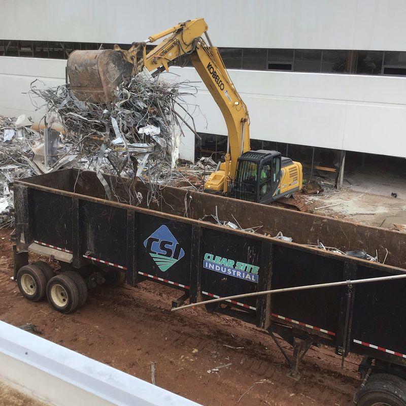 CSI at construction site recycling demolition debris