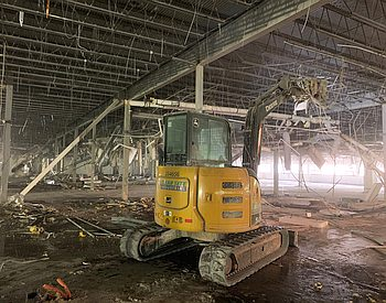 Interior demolition project by Clear Site Industrial